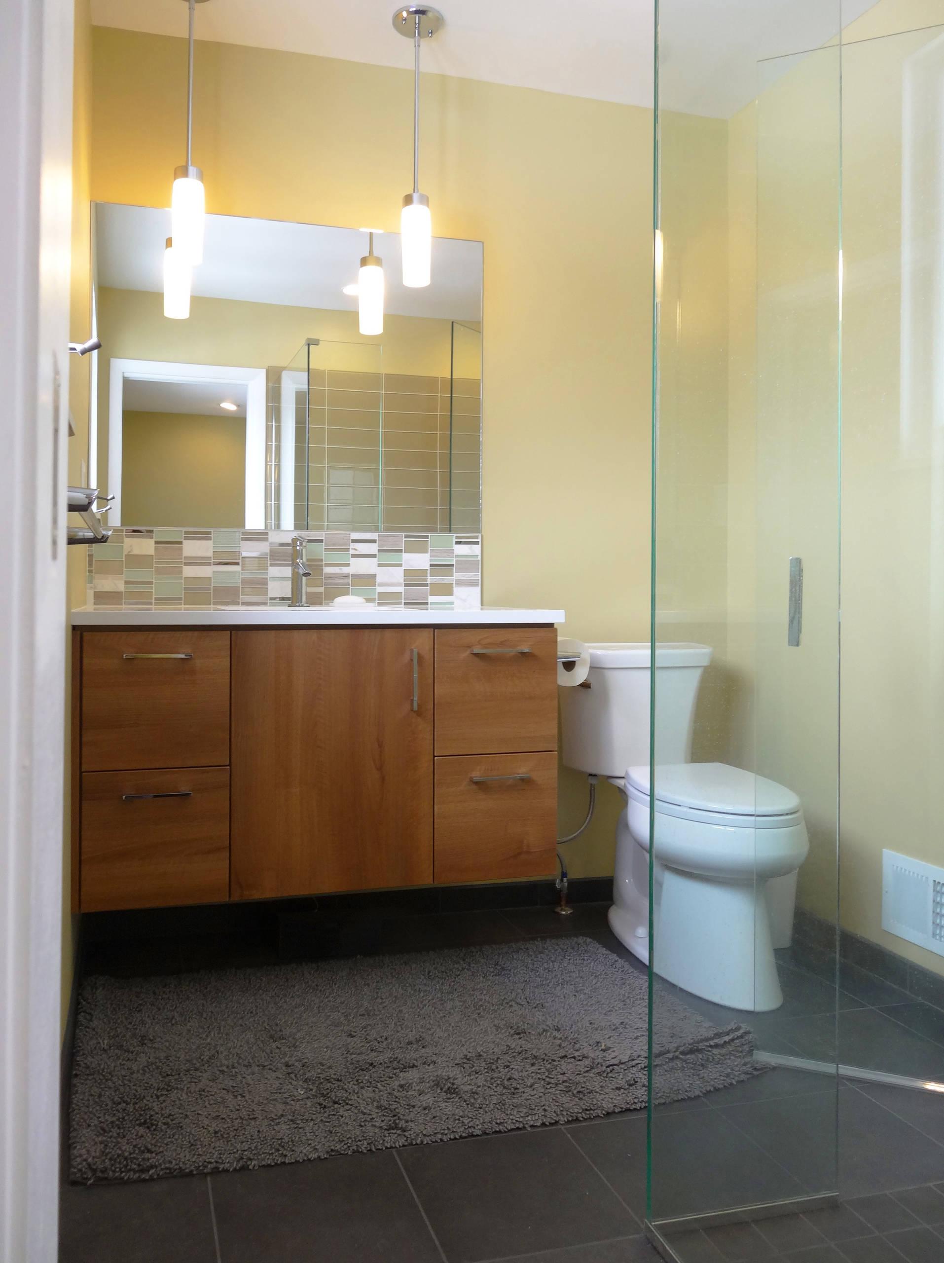 75 Beautiful Mid Century Modern Green Tile Bathroom Pictures Ideas September 2021 Houzz