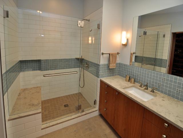 Mid Century Modern Master Suite Midcentury Bathroom Seattle By Ventana Construction Llc