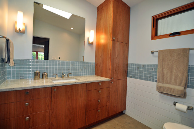 Mid century modern master suite midcentury bathroom for Mid century modern master bathroom