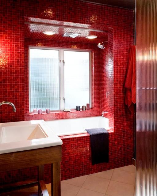 Kraft Custom Construction Master Bathroom midcentury-bathroom