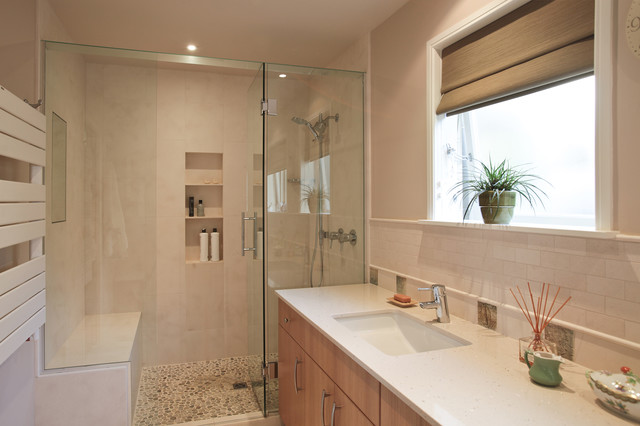 mid century updated contemporary bathroom