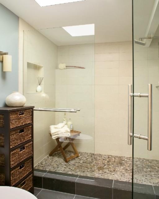 Mid century zen master bathroom - Mid century modern bathroom design ...