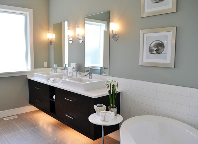 Mid Island Cabinets Custom Cabinetry contemporary-bathroom
