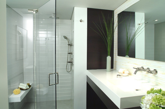 Mid Town NYC Residence Modern Bathroom