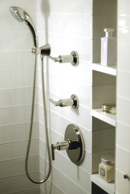 Mid Town NYC Residence modern-bathroom