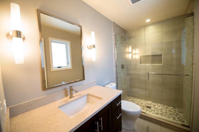 Mid-Century Inspired Remodel midcentury-bathroom