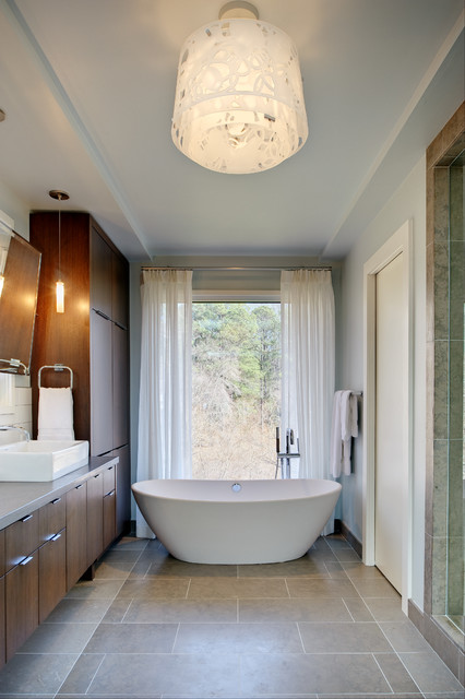 Midcentury Modern Residence contemporary-bathroom