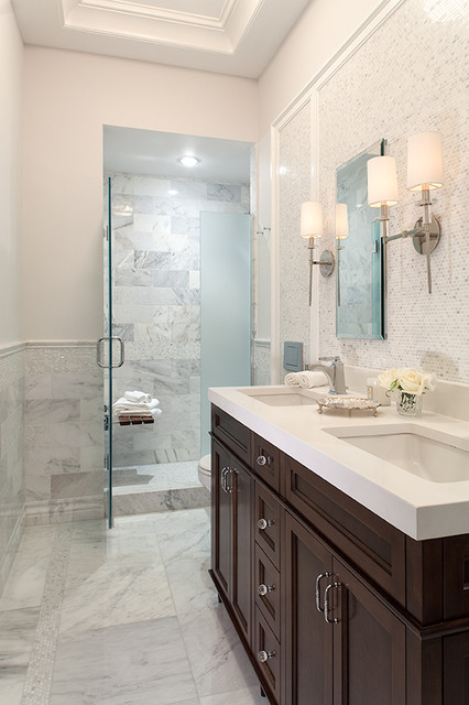 Midtown Manhattan Renovation Traditional Bathroom New York By Hirshson Design Group