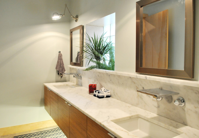 Midtown warehouse loft design by urban kitchens modern for Bathroom remodeling oklahoma city