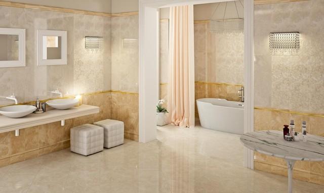 Miele beige - Piastrelle per bagno classico ...