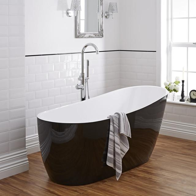 Milano Black Freestanding Bath contemporary-bathroom