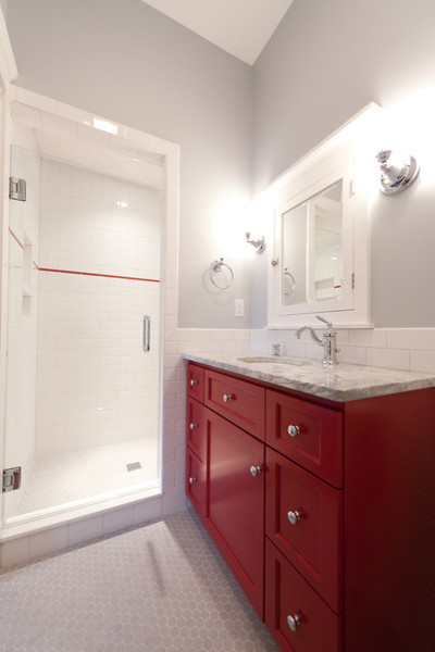 Mill Cabinet Shop Mudroom and Baths - Traditional ...