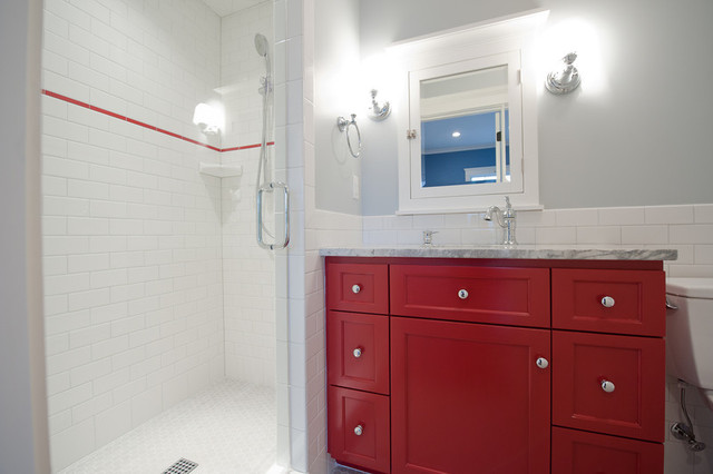 Mill Cabinet Shop Mudroom and Baths traditional-bathroom
