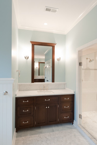 Mill Cabinet Shop Mudroom and Baths - Traditional - Bathroom - richmond - by Mill Cabinet Shop