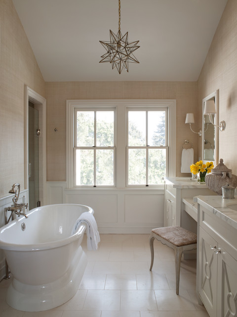 Mill valley classic cottage traditional bathroom san for Traditional master bathroom design ideas