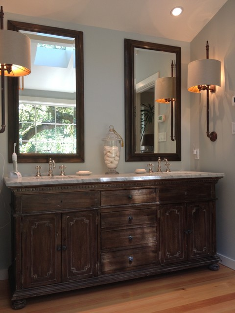 Mill valley rustic cabin remodel rustic bathroom