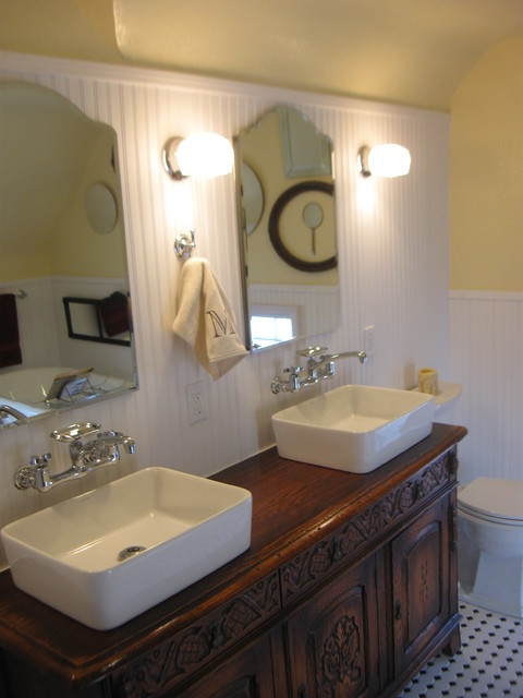 Miller Bathroom S Retro Farmhouse Bathroom Other