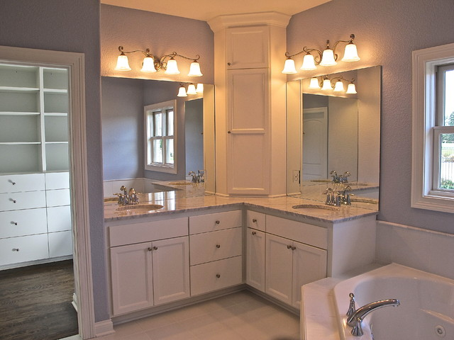 Million Dollar Look in 2,400 sf traditional bathroom