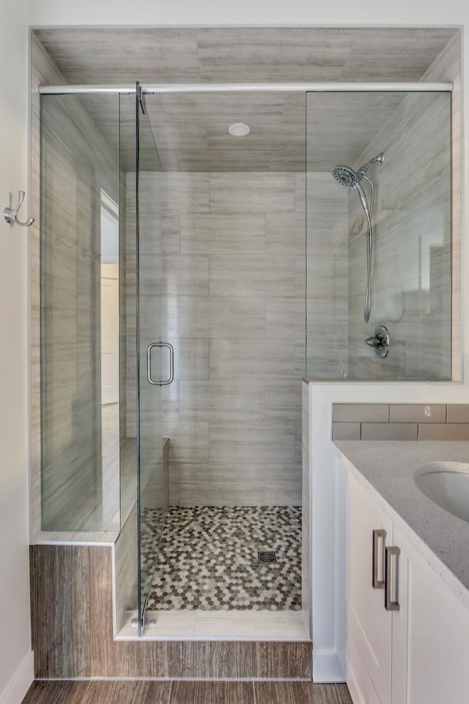 Millview Main Floor Renovation - Transitional - Bathroom ...