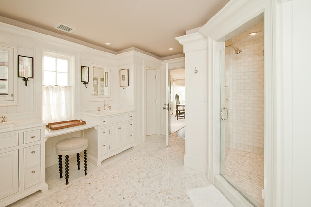 Millwork traditional bathroom boston by toby leary for Houzz bathrooms traditional