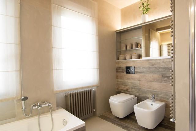 Minimal bathroom contemporaneo stanza da bagno other for Arredo minimal home