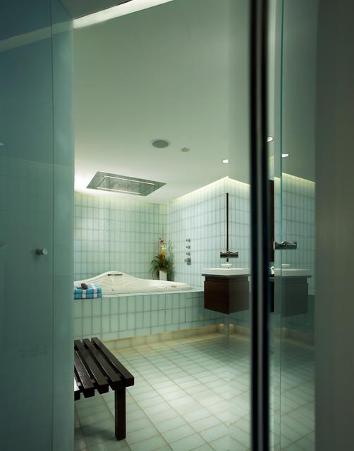 Minimalist bathroom condo remodel contemporary for Minimalist condo interior
