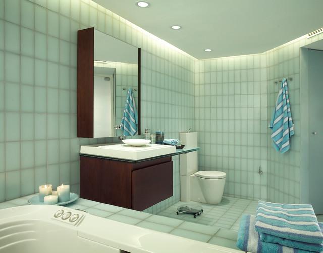 Minimalist condo remodel contemporary bathroom miami for Minimalist condo interior