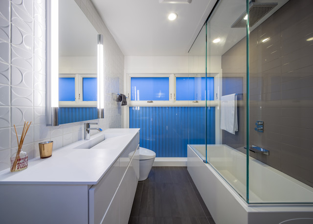 minneapoli riverfront mid century modern remodel modern bathroom - Bathroom Remodel Modern