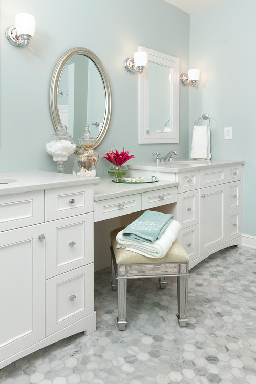 How To Decorate A Bathroom Vanity Knee Space