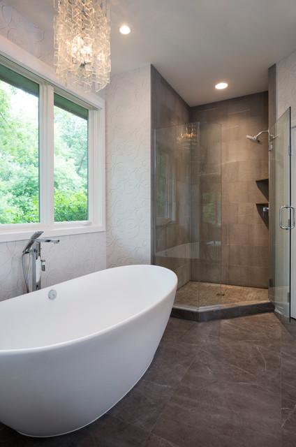 Minnetonka Contemporary Renovation contemporary-bathroom