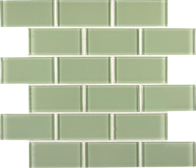 mint green crystal glass subway tile badezimmer other metro von m s international inc. Black Bedroom Furniture Sets. Home Design Ideas