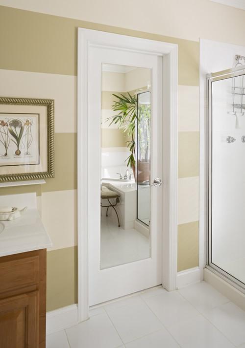 lester remodel: mirror inset in bathroom door
