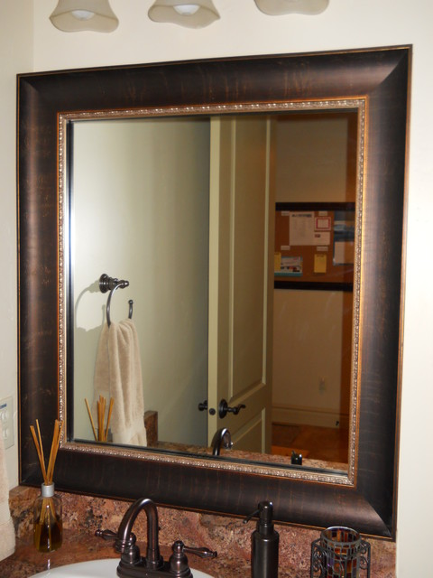 how to frame existing bathroom mirror mirror frame kit traditional bathroom salt lake city 25395
