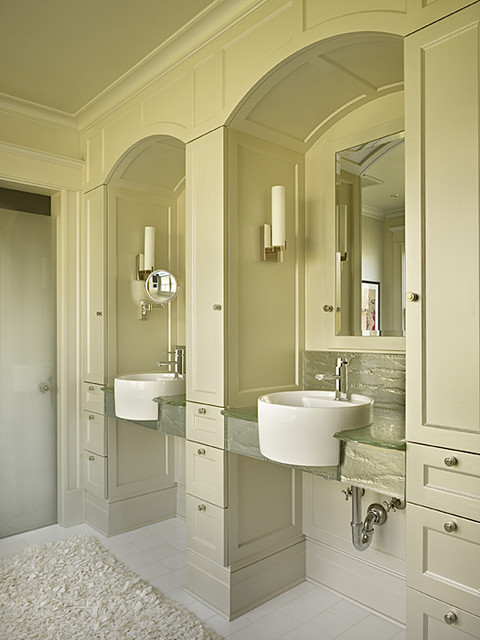 Mirrored Glass Vanities contemporary-bathroom