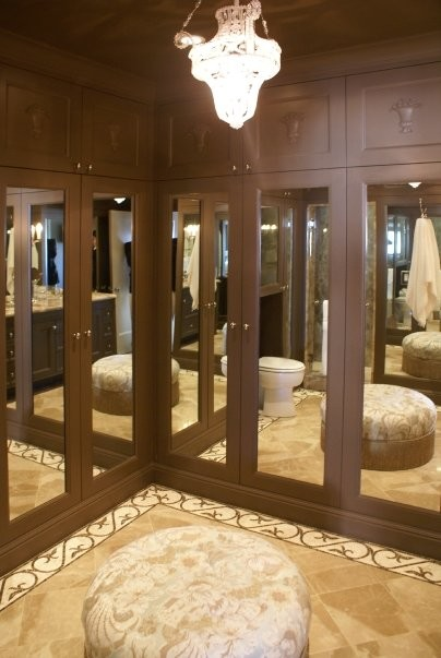 mirrored master bath traditional-bathroom
