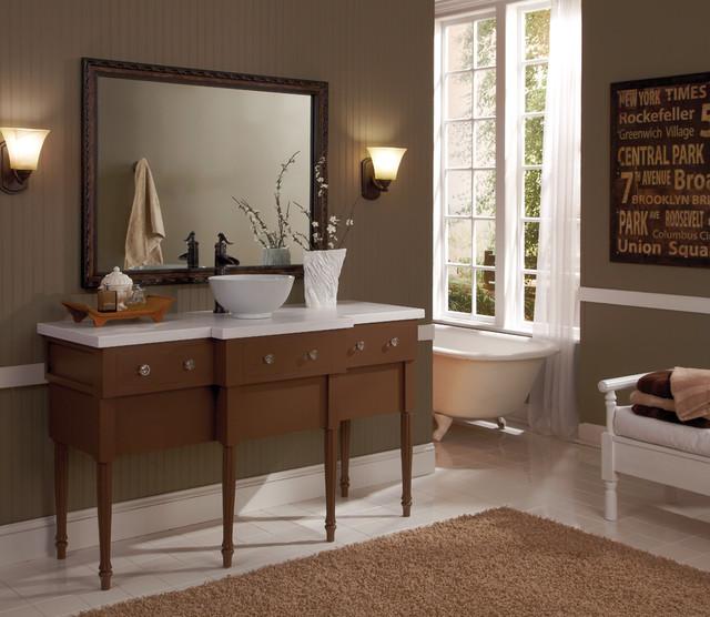 MirrorMate Acadia Oiled Bronze in Bathroom contemporary-bathroom