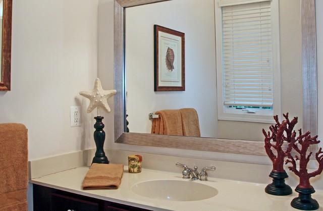 Mirrormate mirror frame tropical bathroom charlotte for Tropical bathroom mirrors