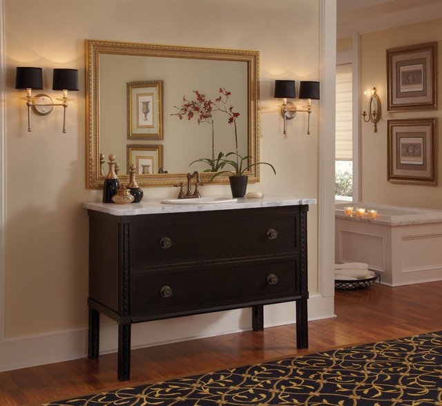 MirrorMate Providence Gold Frame in Bathroom traditional-bathroom