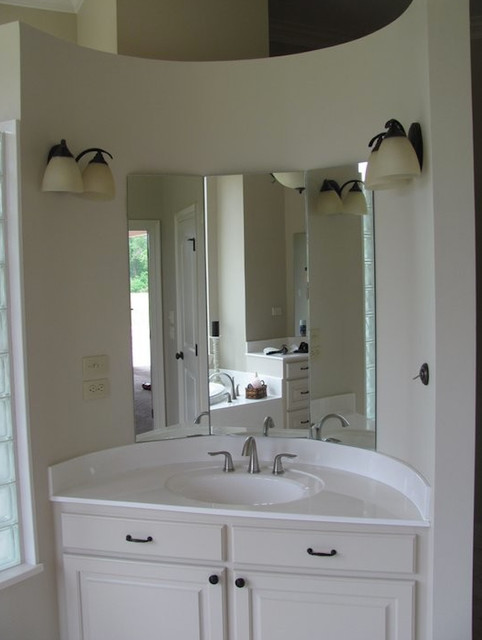 Perfect Cottage Single Mirror Natural Oak  Transitional  Bathroom Mirrors