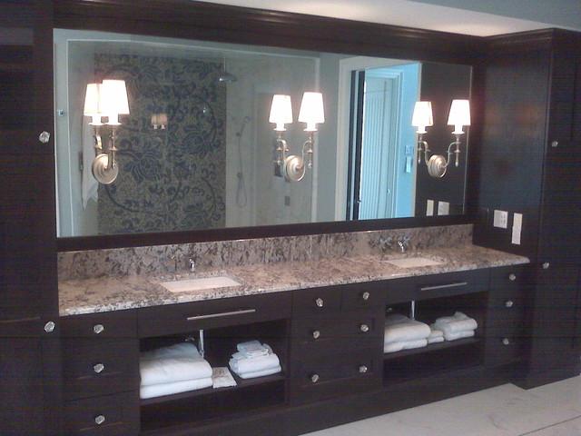 Mirrors traditional-bathroom
