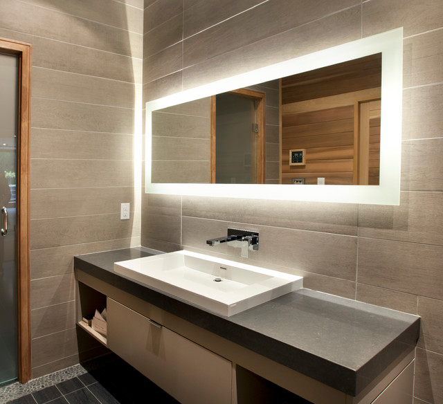 Mirrors Contemporary Bathroom Toronto By JJ Home