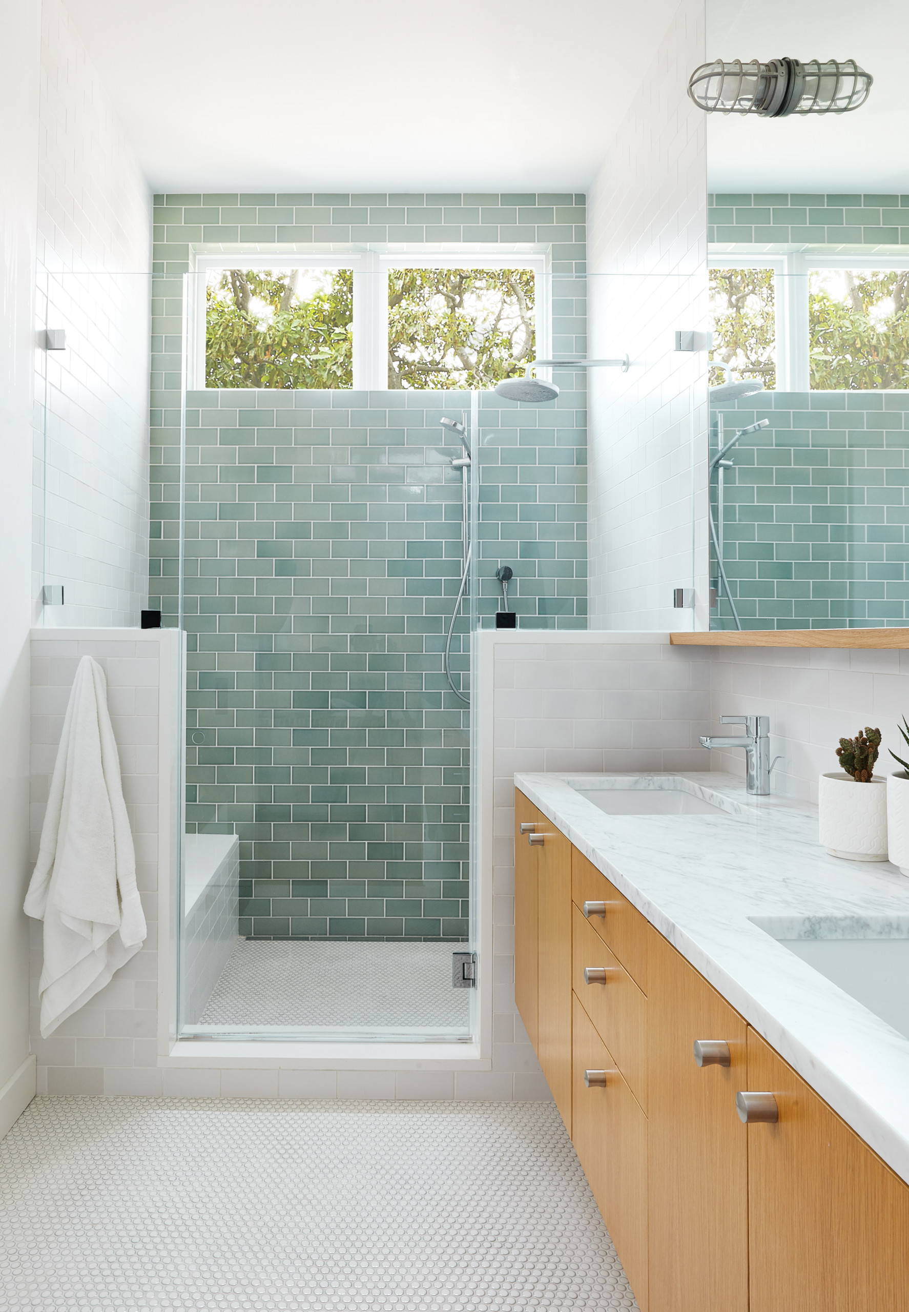 75 Beautiful Green Tile Bathroom Pictures Ideas February 2021 Houzz