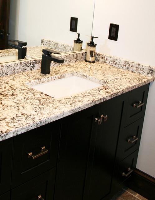 Mission hills remodel craftsman bathroom kansas for Kitchen cabinets 08234