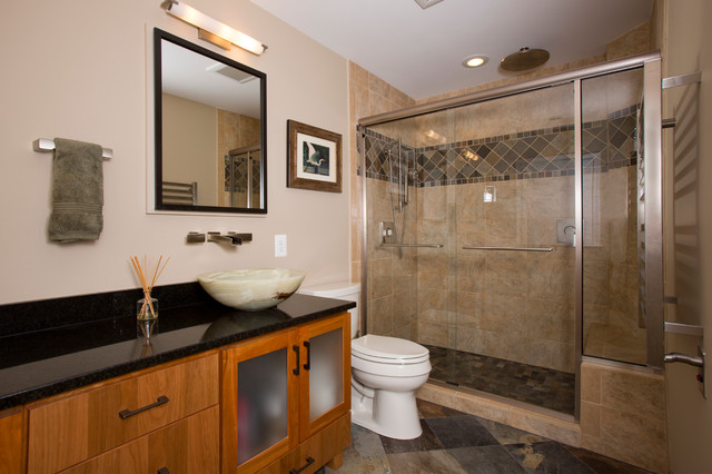 Mission style master bath craftsman bathroom other for Craftsman bathroom design