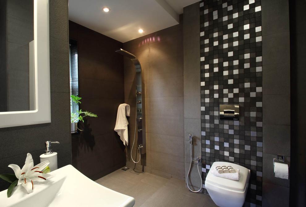 Misty Haven Villa Contemporary Bathroom Bengaluru By Savio Rupa Interior Concepts Bangalore