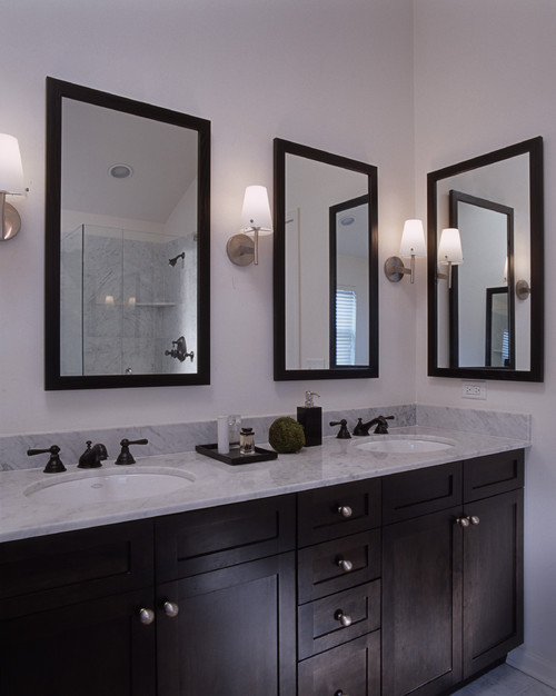 Are the mirrors recessed medicine cabinets or just flush mount mirrors.