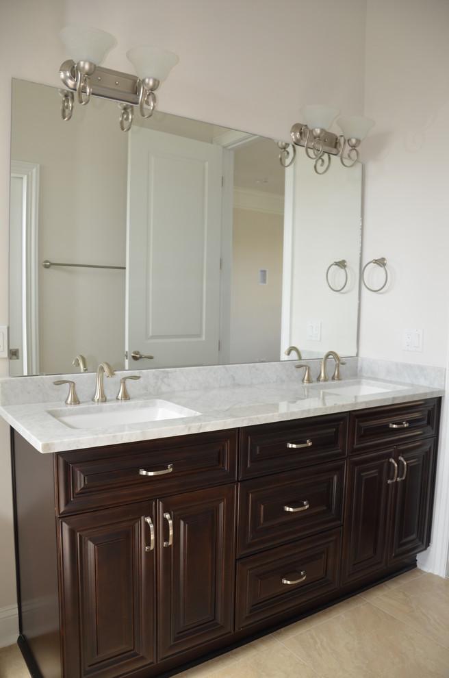 Mocha Latte Vanity Traditional, Mocha Bathroom Vanity