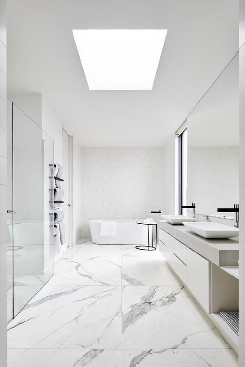 skylight in bathroom for natural light