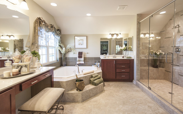 Model Home Bathroom Delectable Model Home Hereford Homes Piscataway Landing  Traditional Decorating Design