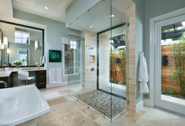 Model home interior design ravenna 1291 transitional for Model home bathroom photos